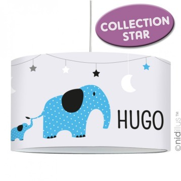 lampe-suspension-elephants-bleu-gris