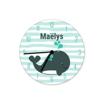 horloge-enfant-prenom-baleine